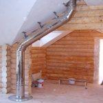 Монтаж дымохода в бане