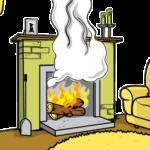 дым из печи