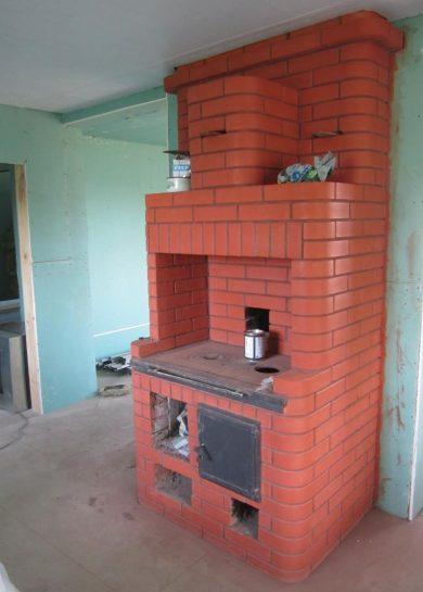 отопительно варочная печь из кирпича