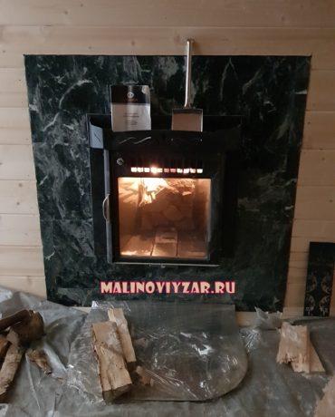 установка печи дровяной  ферингер